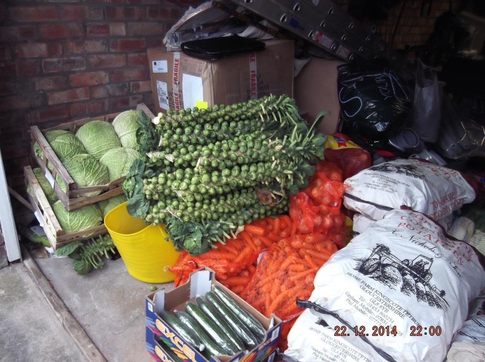 Nobby's donation from M&D Kidner at the Bristol fruit market.