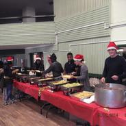 Serving Christmas Dinner - The Macolm X Community Centre in St Pauls, Bristol